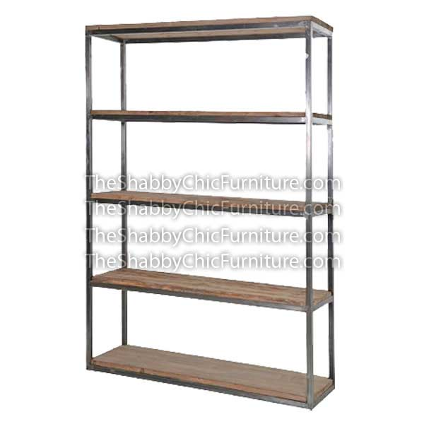 Bohemy Open Shelves Bookcase with Stainlessteel Small