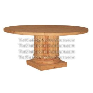 Bohemy Round Pillar Dining Table