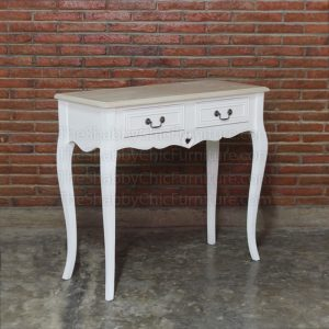 Liebe 2 Drawer Console Table Shabby Chic