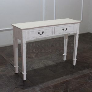 Louvre 2 Drawer Console Table Shabby Chic