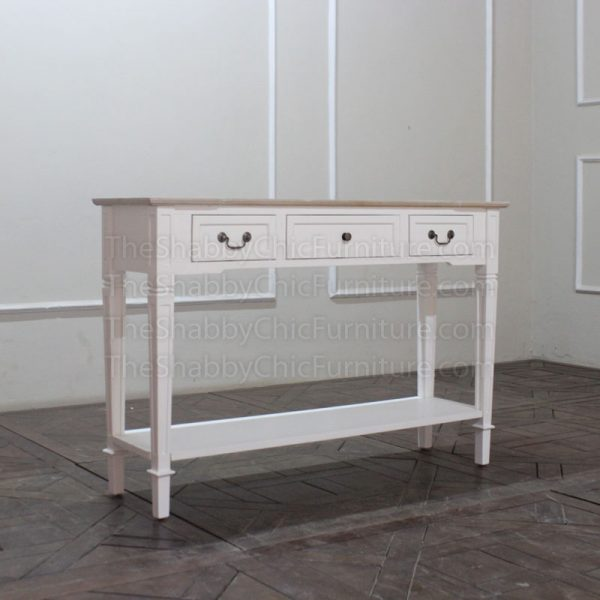 Louvre 3 Drawer Console Table Shabby Chic