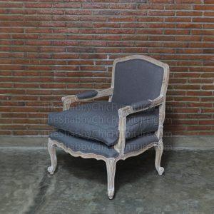 Luberon Arm Chair Grey Shabby Chic