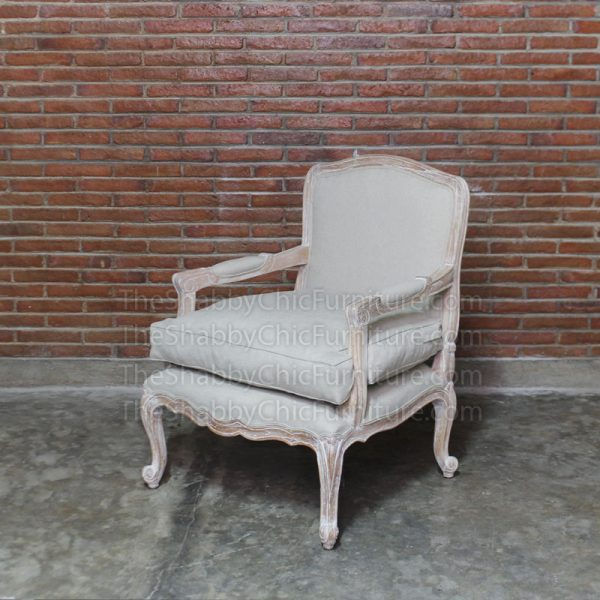 Luberon Arm Chair Ivory Shabby Chic