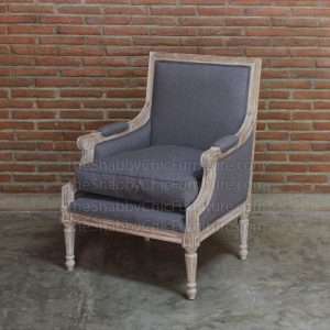 Ventoux Arm Chair Grey Shabby Chic