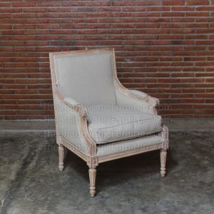 Ventoux Arm Chair Ivory Shabby Chic